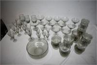 Group of Smokey Bowls & Glasses