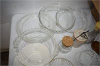 Pyrex Pie Plates, Measure Cup, Pie Weights, etc.