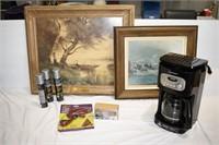Coffee Pot, Pictures, Reflective Spray, etc.