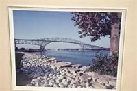 Blue Water Bridge Photo Signed Douglas Paisley