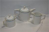 Porcelain Teapot, Creamer & Sugar Set