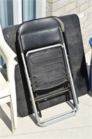 Grp, of Patio and Folding Chairs, Table,