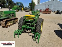 1949 John Deere M with 2 Row Mounted Cultivator, W