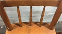 6 Vintage Wooden Windsor Style Chairs Q12C