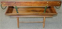 Antique Seat from a Buckboard Wagon Attached Legs