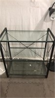 Glass Shelf, Coat Rack & Floor Lamp Q11B