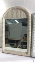 2 Wicker Framed Mirrors T15D