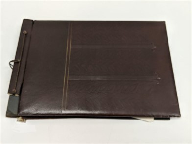 Antique Photo Album With Military Photos Other Items For