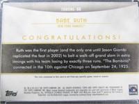 Babe Ruth Baseball Card