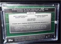 Baseball Campanella, Munson, Mauer Card