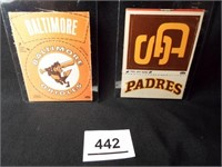 Baseball Cloth Patches Padres, Orioles