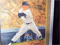 Baseball Mickey Mantel Signed Art