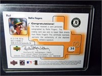Baseball Rollie Fingers Signed Card