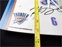 Basketball Thunder Durant Signed Clock