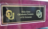 Billy Sims Signed Jersey