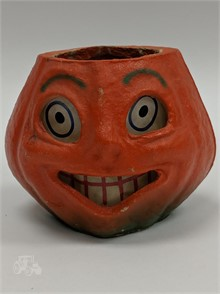 1940 S Halloween Paper Mache Jack O Lantern Other Items For