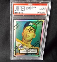 Baseball Mickey Mantel Signed Card