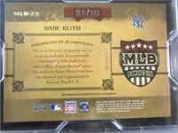 Babe Ruth Jersey Baseball Card