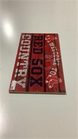 Boston Red Sox Pressed Wood Sign-