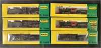 6 Boxed Minitrix N Ga Steam Locomotives