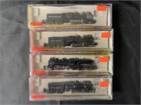 4 Boxed Roundhouse N Ga Steam Locomotives