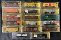 17 Mostly Atlas N Ga Freight Cars