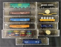 11 Boxed Minitrix N Ga Freight Cars