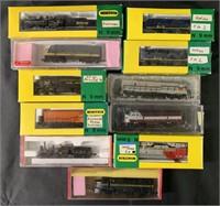 11 Assorted N Ga Locomotives