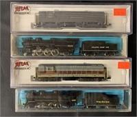 4 Boxed Atlas N Ga Locomotives