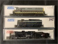 3 Boxed Kato N Ga Steam & Diesel  Locos