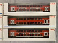 6 Marklin HO DB Bi-Level Commuter Cars