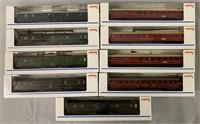 9 Marklin HO DB Express Passenger Cars