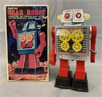 New Gear Robot. Wind Up Boxed.