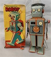 "Tin Litho ""Easel Back"" Mechanical Robot."