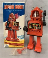 Tin & Plastic Wind-Up Jupiter Robot.