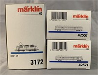 3pc Marklin HO DB Express Train Set