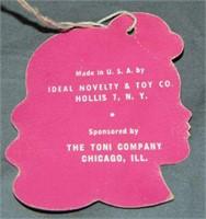 1951 MIB Ideal P-91 Toni Shampoo & Play Wave Doll