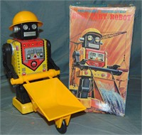 Scarce Boxed Japan Busy Cart Robot