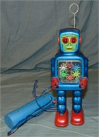 Tin High Wheel Robot Battery-Operated Toy