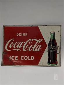 Pleasant 1950S Coca Cola Sign With Arrow To Bottle Other Items For Inzonedesignstudio Interior Chair Design Inzonedesignstudiocom