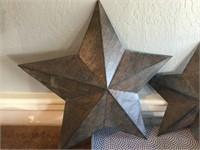Decorative Tray and Metal Barn Stars
