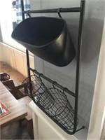 Metal Wall Display with Baskets