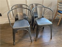 (4) Metal Dining Chairs