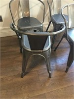 4-Metal Dining Chairs