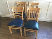 4 -Padded Restaurant Dining Chairs