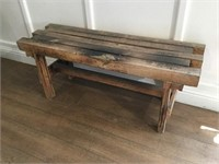 Handmade Wood Bench