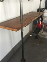 Industrial Wood Wall Shelf