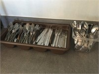 Qty of Silverware Knives, Forks, Spoons