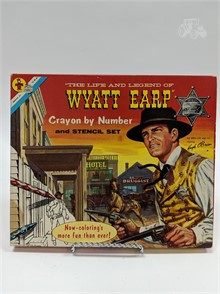 Vintage Wyatt Earp Crayon By Number Set Other Items For Sale