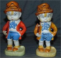 (2) Bisque Skippy Comic Character Figures